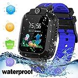 LDB Smartwatch Reloj Inteligente Impermeable para Nios Llamadas Pantalla Tctil Tracker GPS/LBS SOS Cmara Regalo de Cumpleaos para Nios de 3-12 Aos