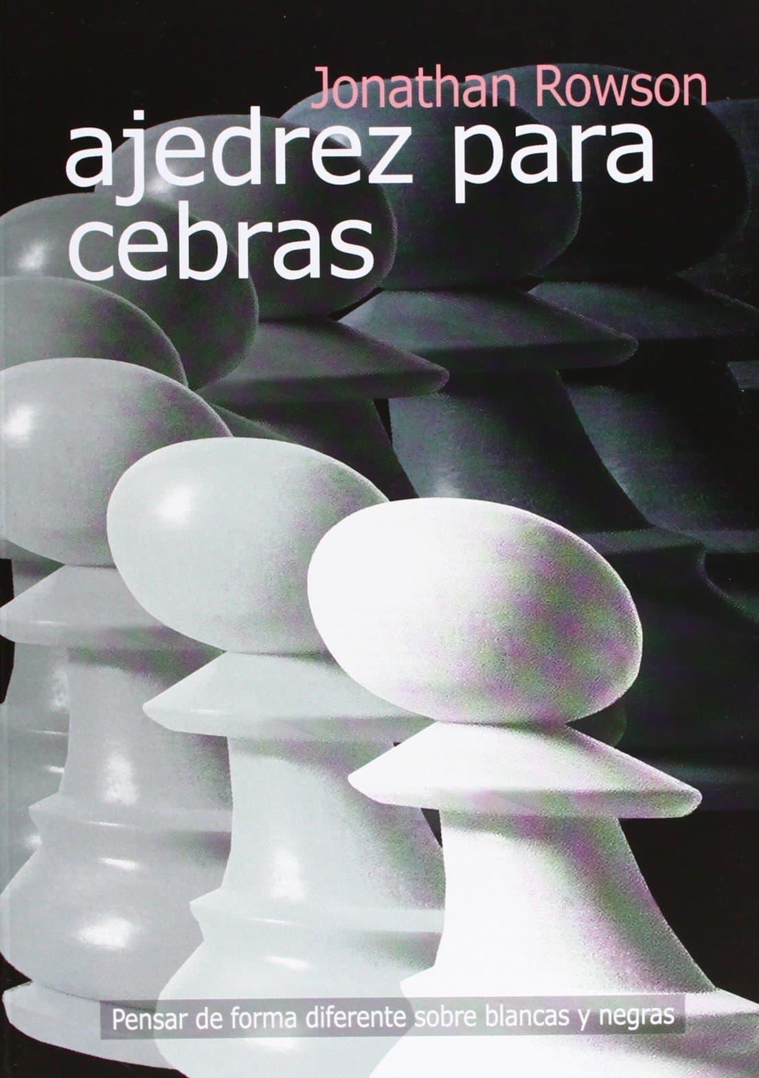 libro ajedrez para cebras con varios peones ilustrados en su portada