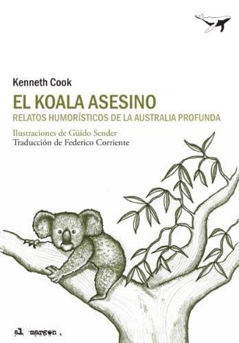 """Portada del libro """"el koala asesino"""" con la ilustración de un koala subido a un árbol"""
