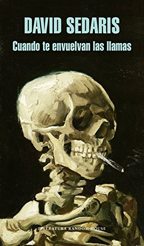 """libro """"cuando te envuelvan las llamas"""" con una calavera en la portada"""