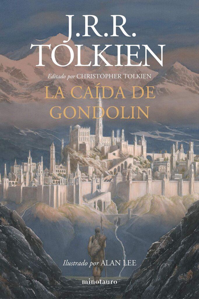 """Portada del libro """"La caída de Gondolin""""de J. R. R. Tolkien."""