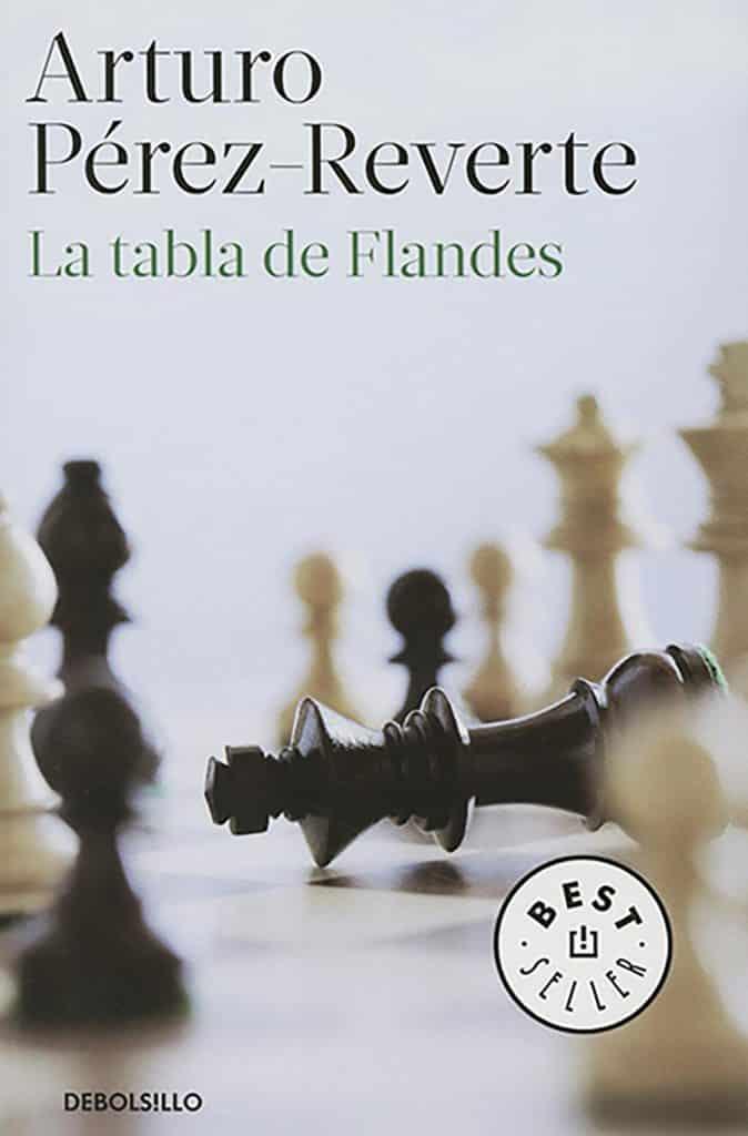 """Libro escrito por el autor español Arturo Pérez-Reverte """"La tabla de Flandes"""""""