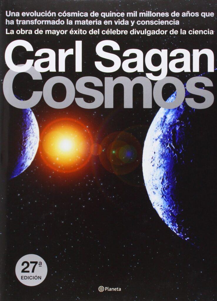 Portada del libro Cosmos, de Carl Sagan.