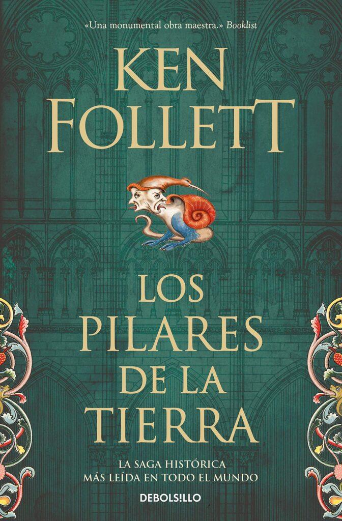 """Portada del libro""""Los pilares de la tierra"""" del autor Ken Follet."""