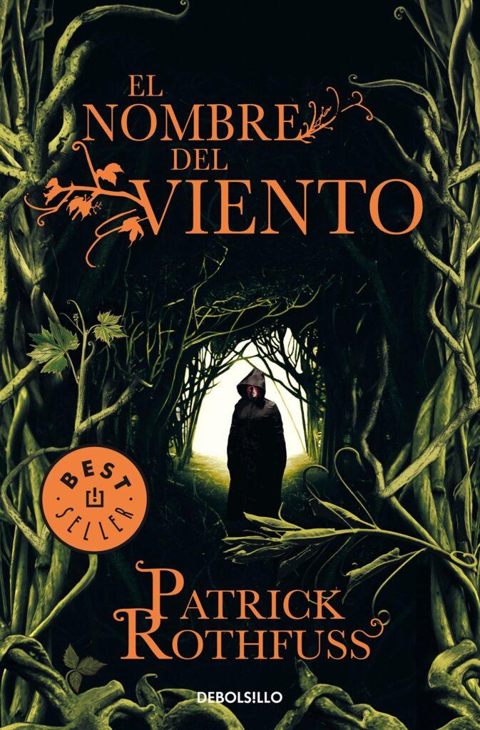 """Portada del libro """"El nombre del viento"""" de Patrick Rothfuss."""