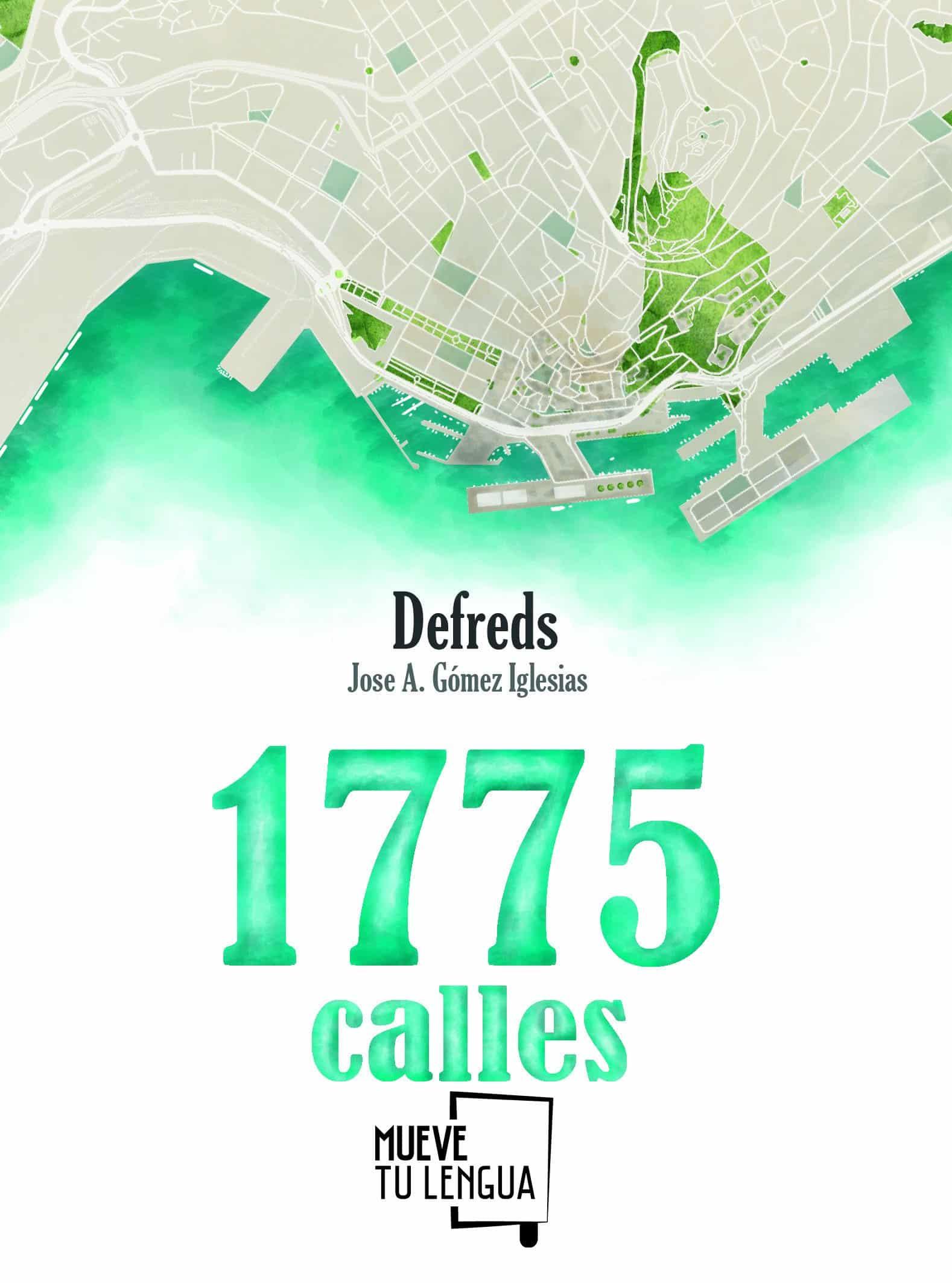 "Portada del libro ""1775 calles"" de Defreds."