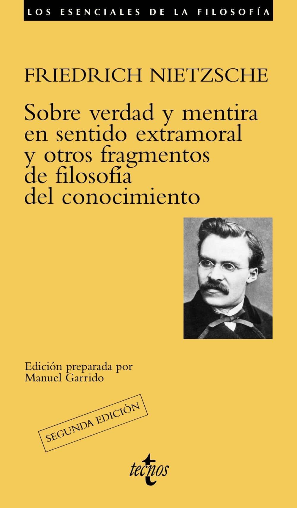 """Libro """"Sobre verdad y mentira en sentido extramoral"""" de Friedrich Nietzsche."""