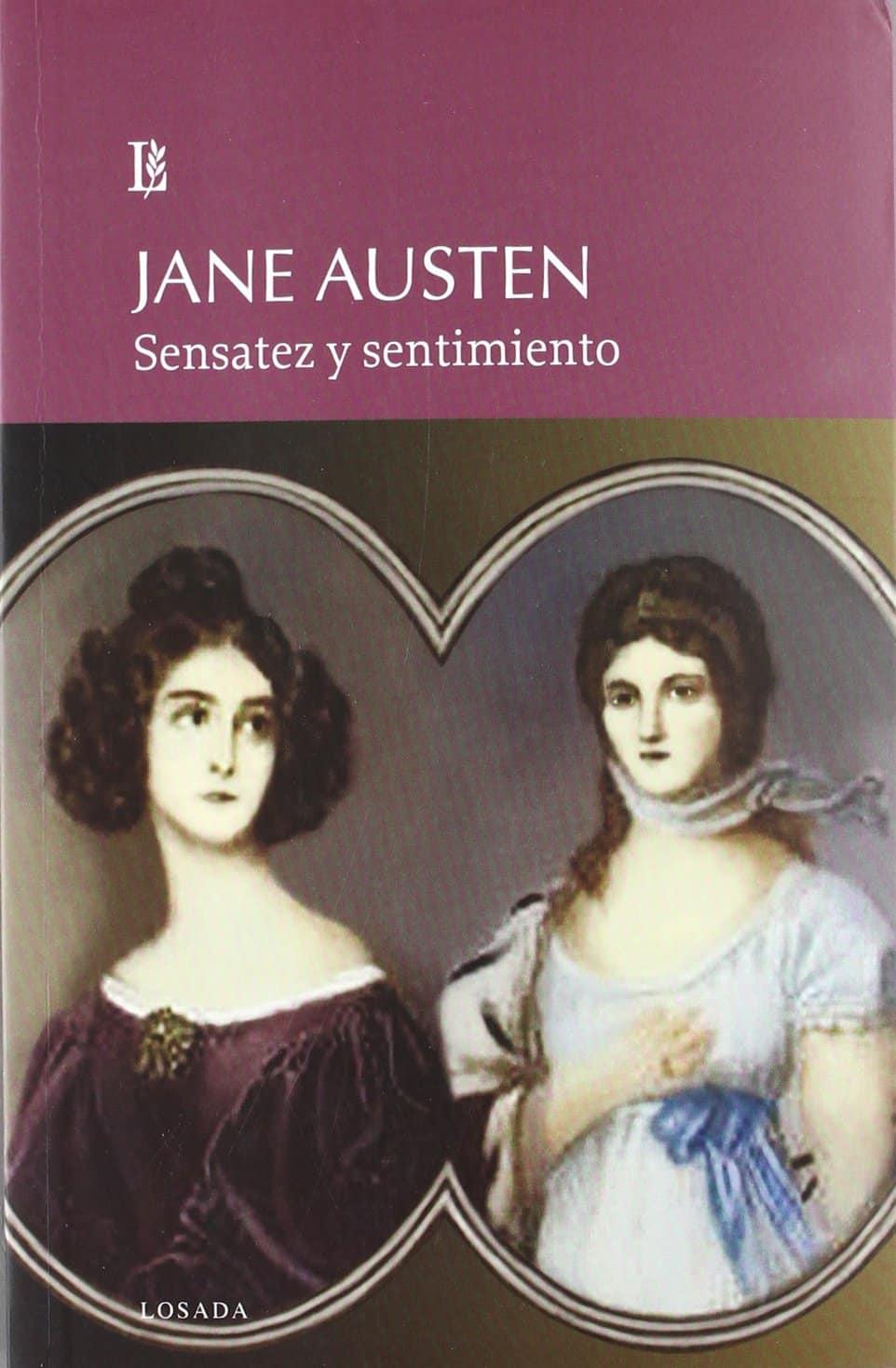 """Portada del libro""""Sensatez y sentimiento"""" de la autora Jane Austen."""
