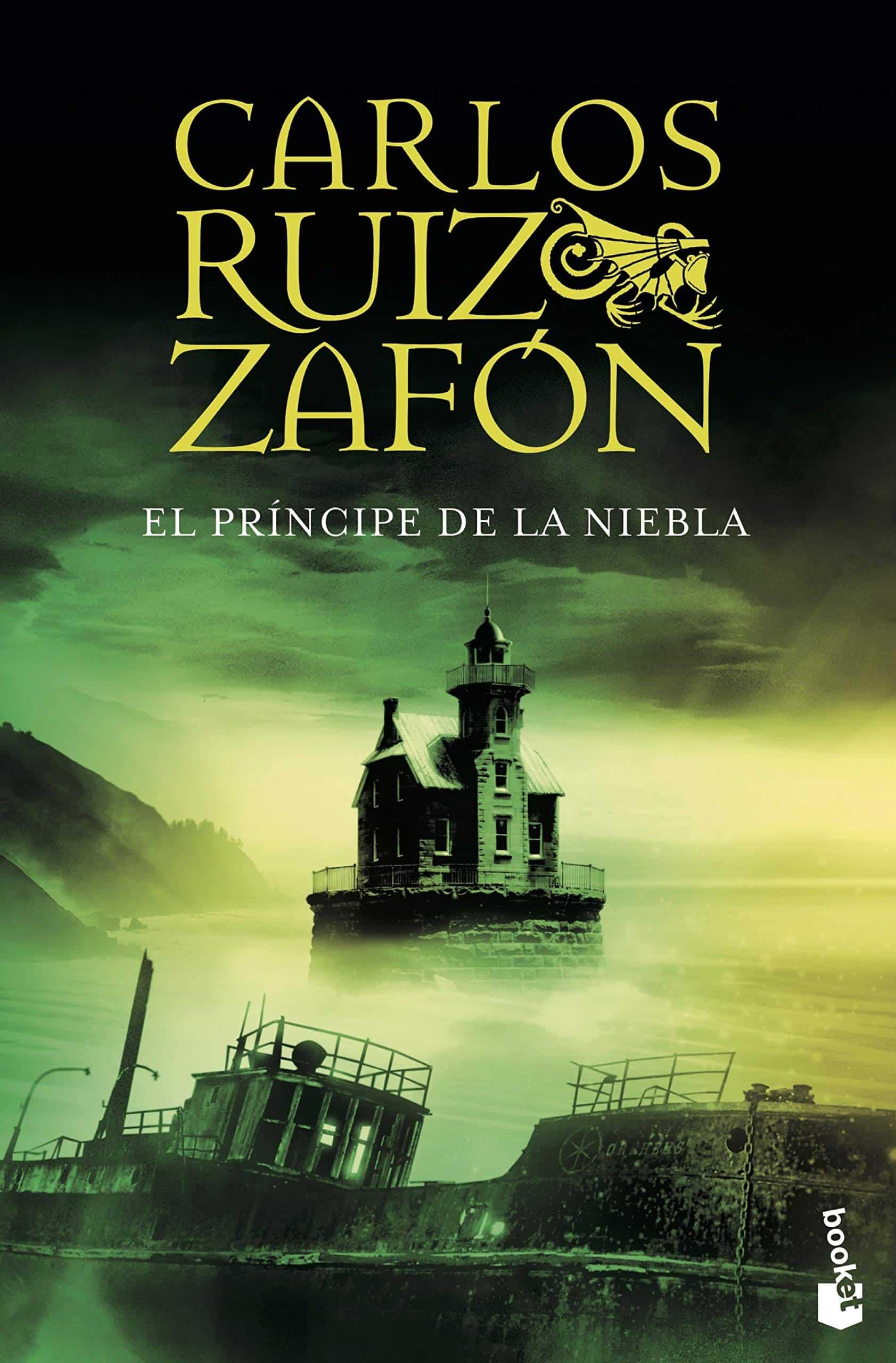 """Portada de libro """"El príncipe de la niebla """" de Carlos Ruiz Zafón."""